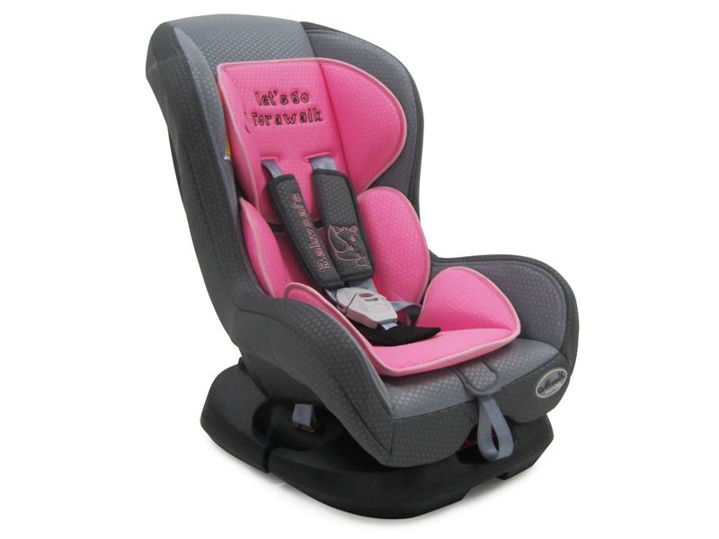 Scaun Auto Copii MONI Babysafe Roz