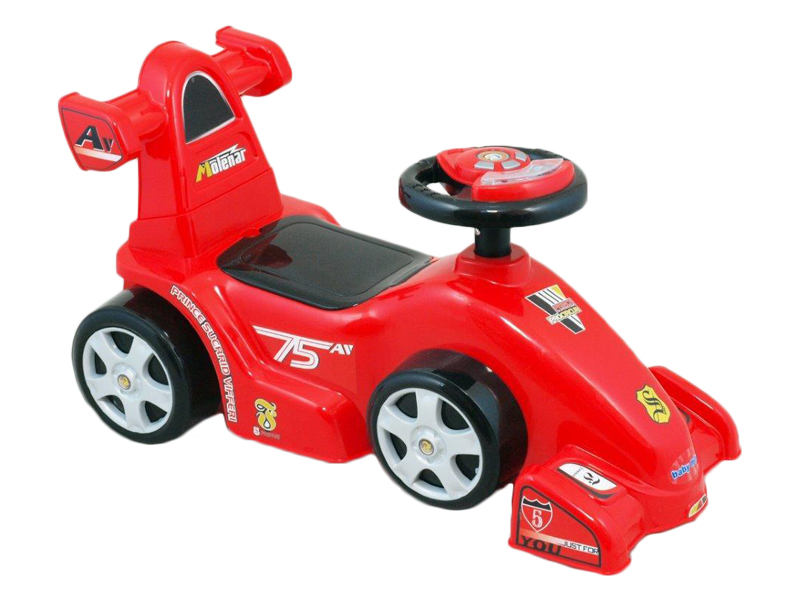Masina de impins copii Baby Mix UR HZ601 W Car Bolid Red