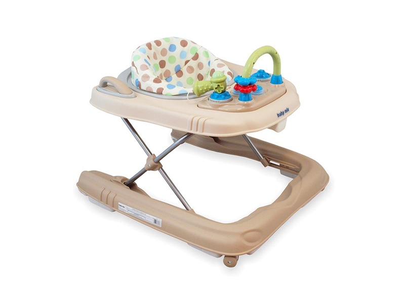Premergator copii 2 in 1 cu roti din silicon Baby Mix BG-0416 Latte