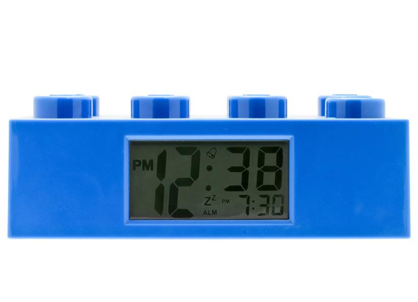Ceas desteptator LEGO caramida albastra, 9002151