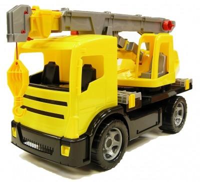 Camion Gigant cu macara din plastic 70cm - Lena