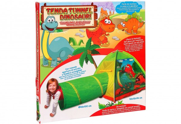 Cort pentru copii de joaca pentru interior sau exterior cu tunel inclus Dinozauri