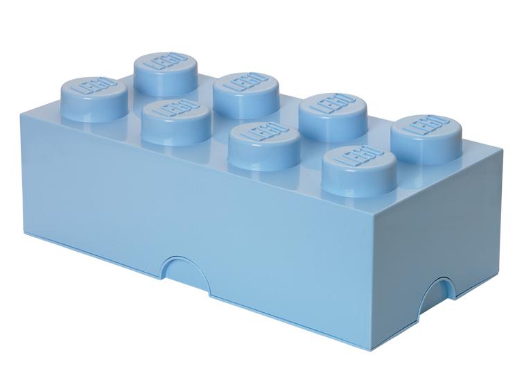 Cutie depozitare LEGO 2x4 albastru deschis