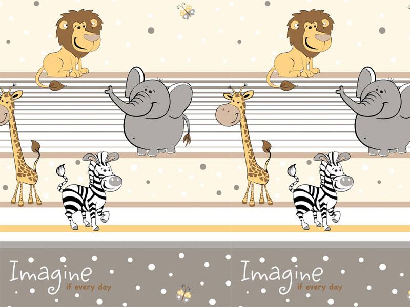 Lenjerie MyKids Imagine Safari Maro 4+1 Piese 120x60