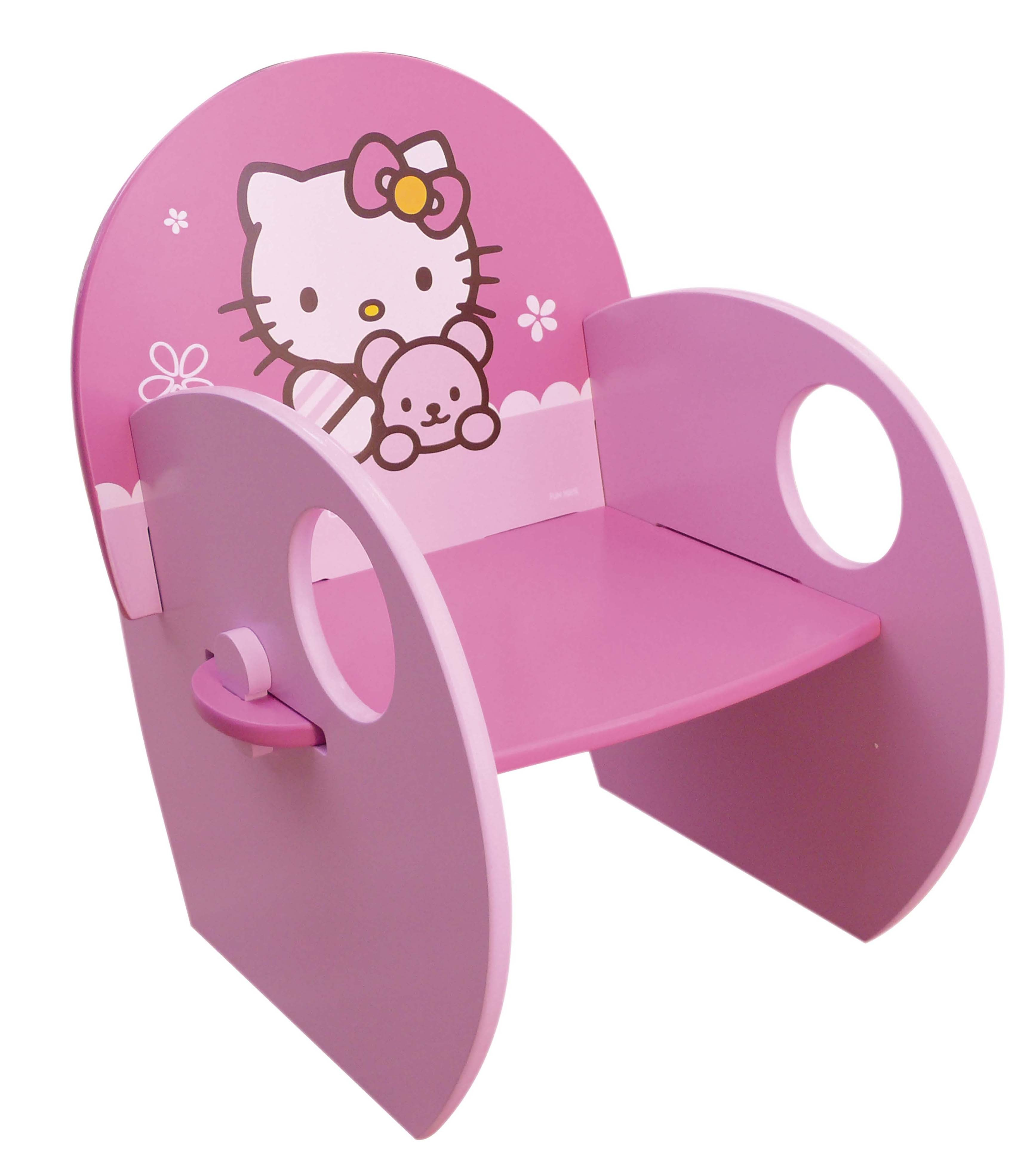 Fotoliu din lemn Hello Kitty