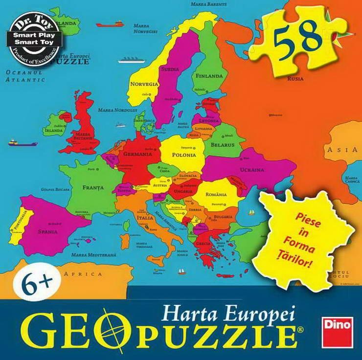 Geopuzzle, harta Europei, Dino