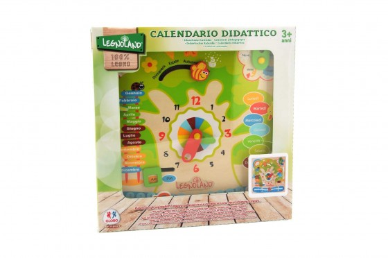 Joc din lemn Calendar Didactic in limba italiana pentru copii