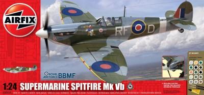 Kit constructie si pictura avion Supermarine Spitfire Mk VB scara 1/24