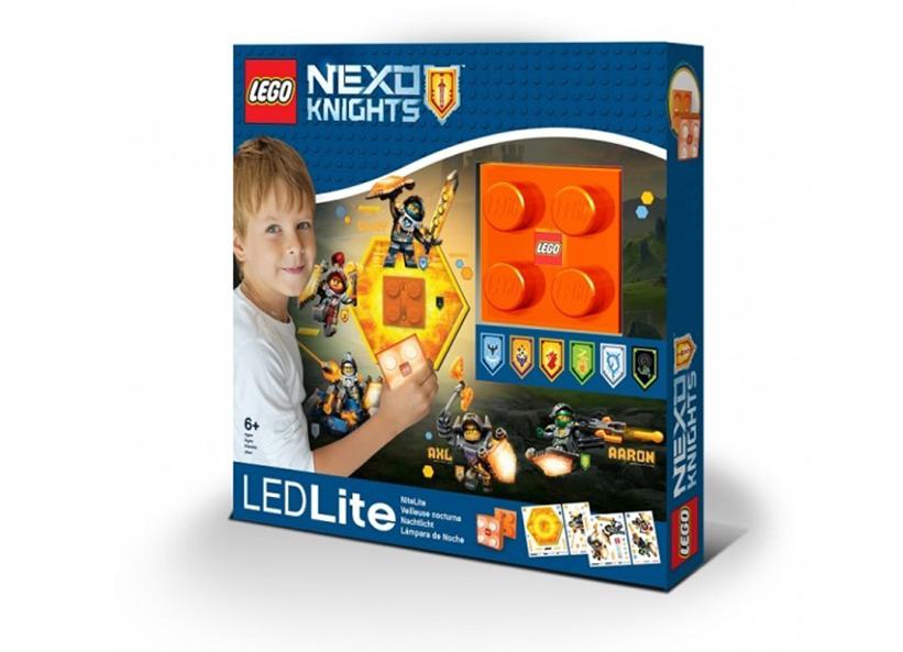 Lampa de veghe cu autocolante LEGO Nexo Knights
