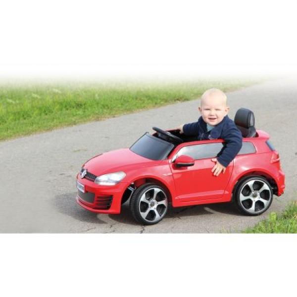 Masinuta electrica copii Volkswagen Golf GTI 2 VII rosie Jamara 12V cu telecomanda control parinti 2.4 Ghz si MP3 player cu card memorie SD si lumina roti