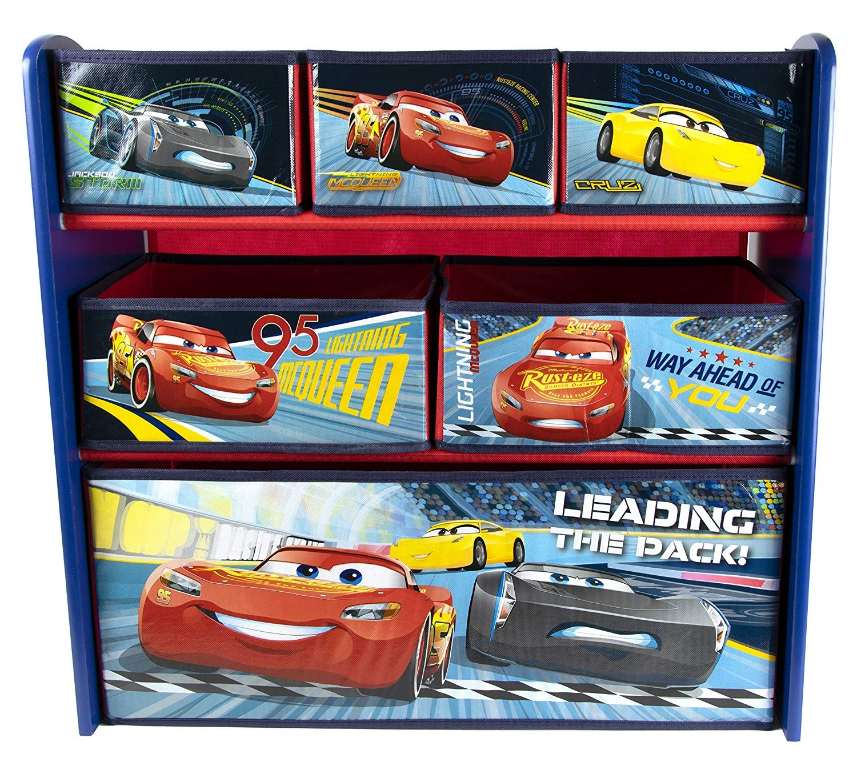 Organizator jucarii cu cadru din lemn Cars 3 - Global