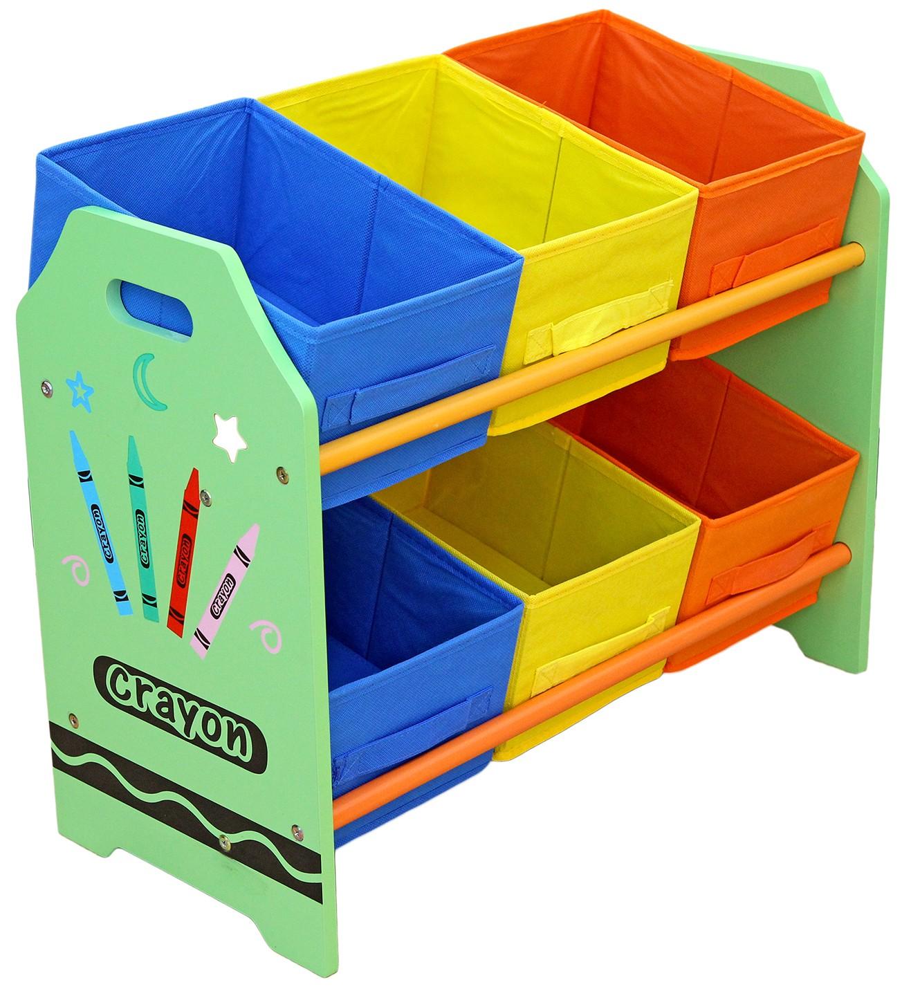 Organizator jucarii cu cadru din lemn Green Crayon - Style