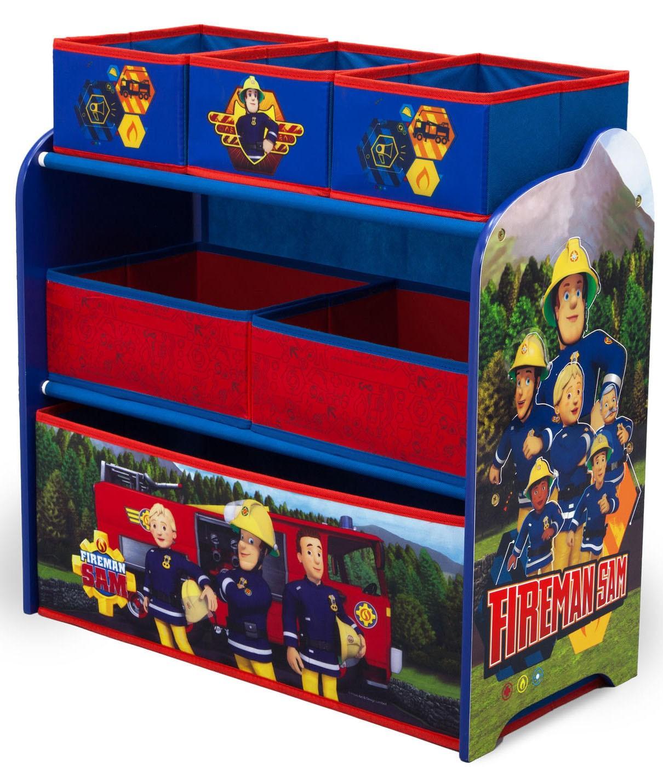 Organizator jucarii cu cadru din lemn Pompierul Sam