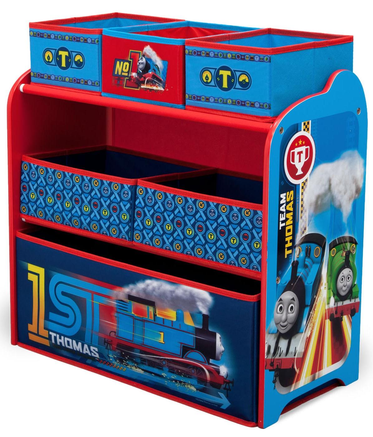 Organizator jucarii cu cadru din lemn Trenuletul Thomas