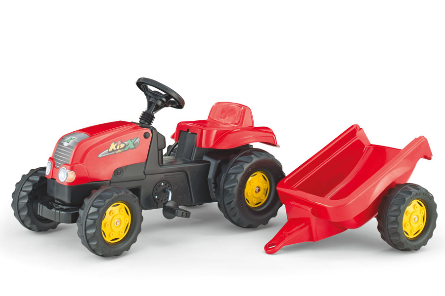 Tractor Cu Pedale Si Remorca Copii ROLLY TOYS 012121 Rosu