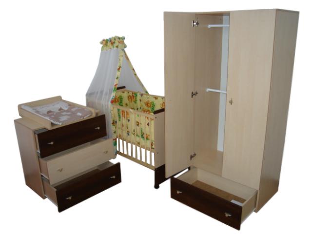 Mobilier Camera Copii Si Bebelusi KLUPS PAULA Natur Wenge