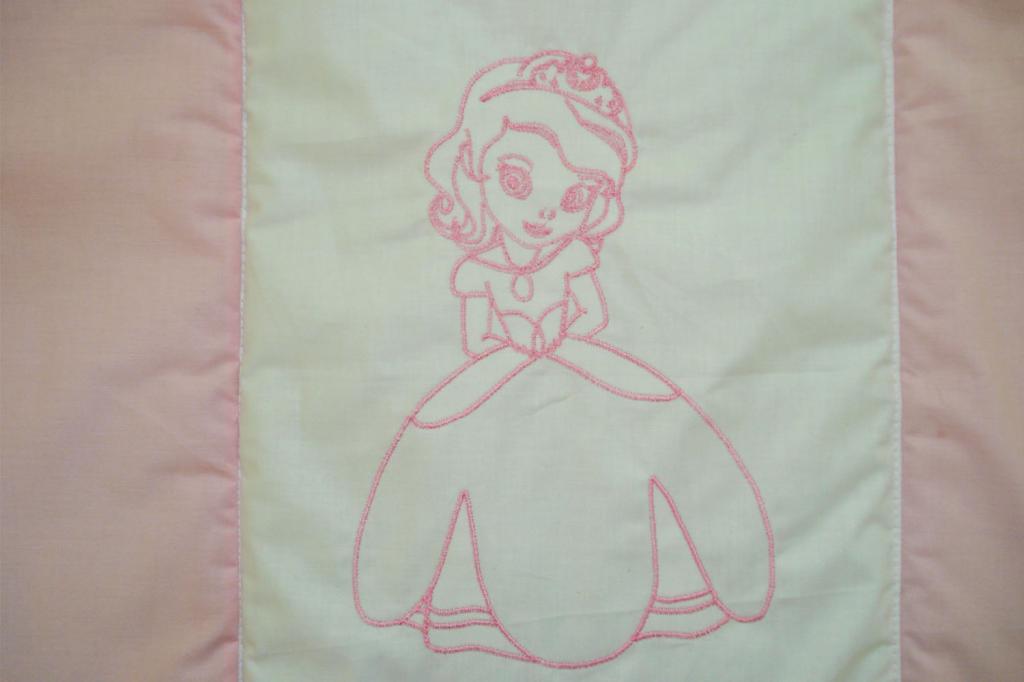 Lenjerie MyKids Cu Broderie Princess Roz 4 Piese 120x60