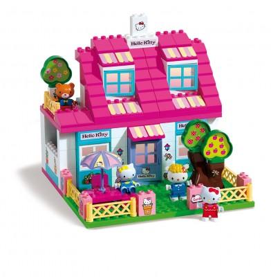 Set constructie Unico Hello Kitty casuta cu terasa 129 piese