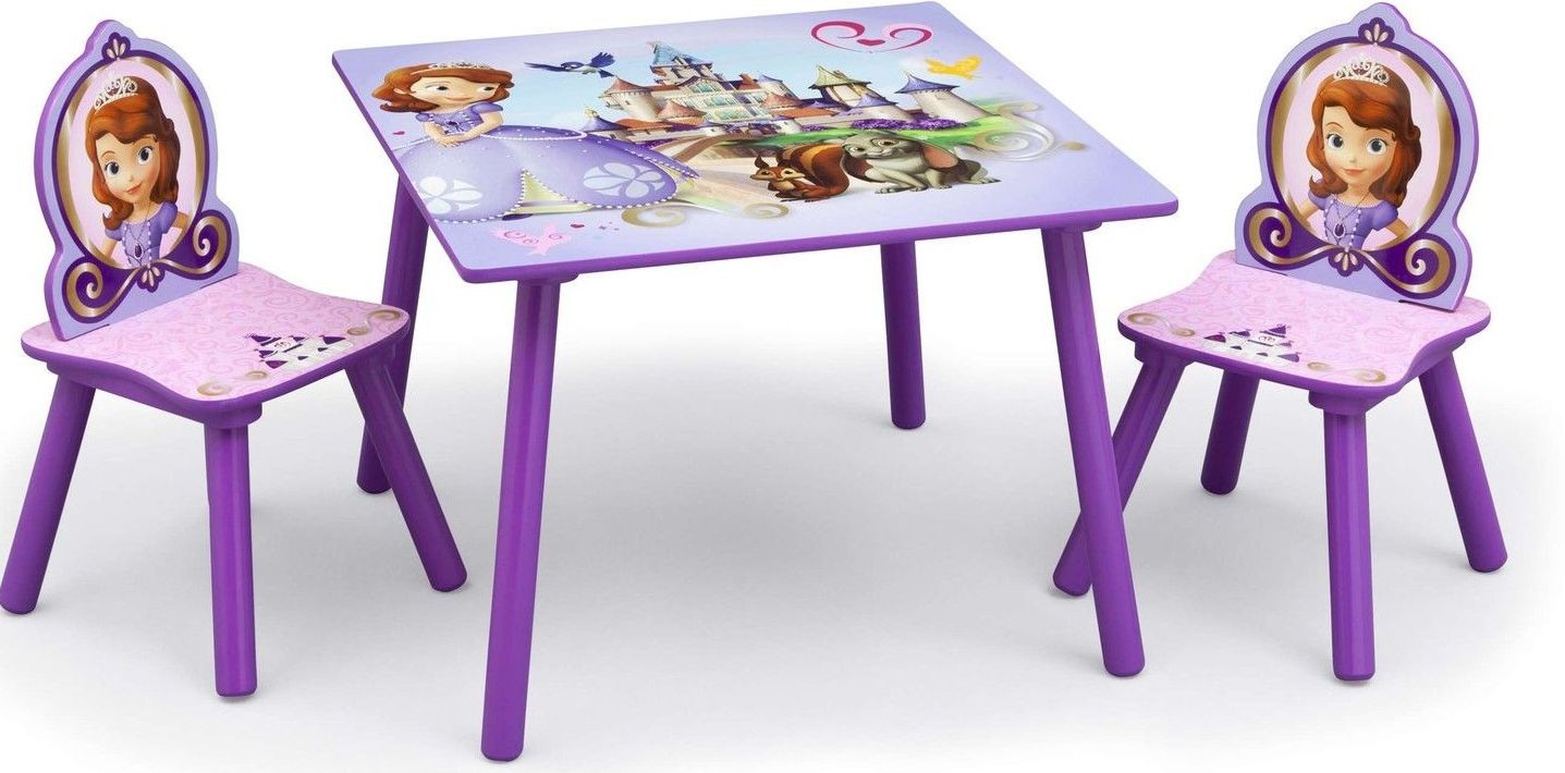 Set masuta si 2 scaunele Disney Sofia Intai