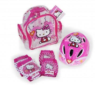 Set protectii bicicleta trotineta Saica Hello Kitty