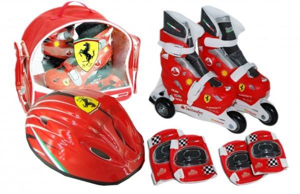 Set role cu accesorii protectie incluse Saica Ferrari marimi reglabile 28-31
