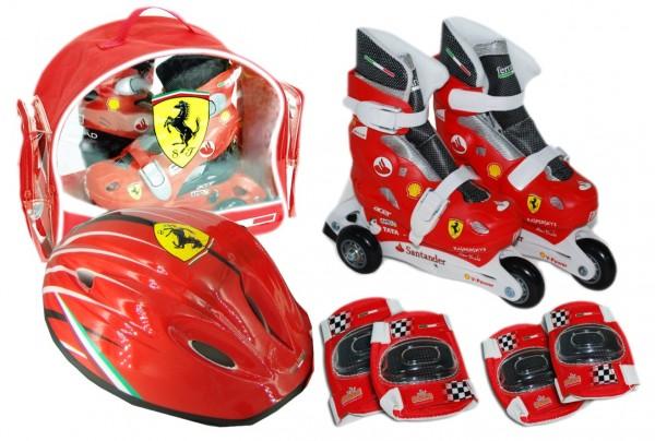 Set role cu accesorii protectie incluse Saica Ferrari marimi reglabile 35-38
