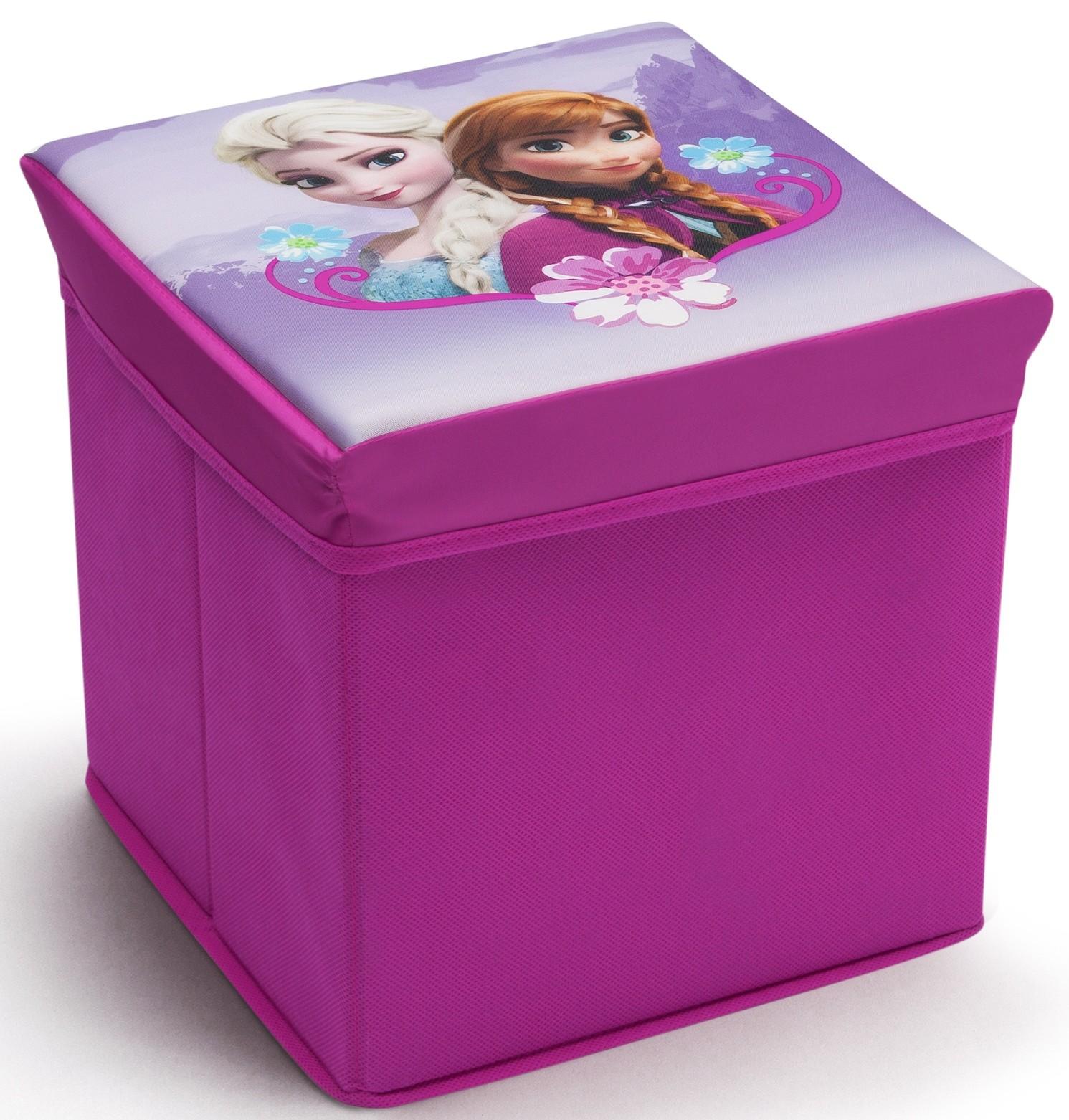 Taburet si cutie depozitare jucarii Disney Frozen