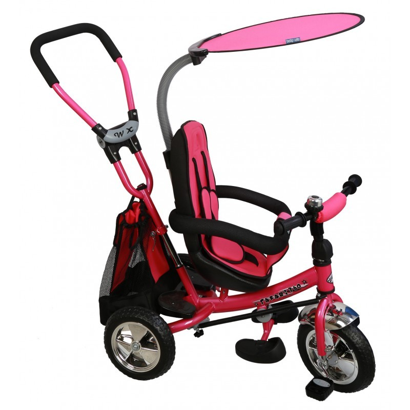 Tricicleta cu sezut reversibil Safari Break 360? Pink