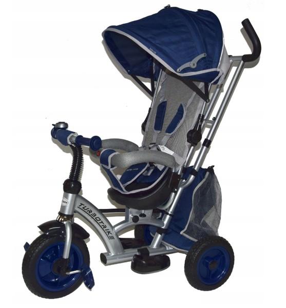 Tricicleta cu sezut reversibil Sunrise Turbo Trike Dark Blue