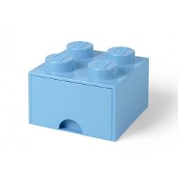 Cutie depozitare LEGO 2x2 cu sertar, albastru deschis (40051736)