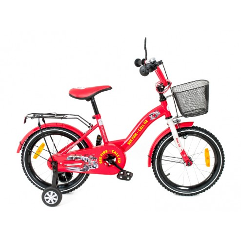 Bicicleta copii MyKids Toma Fire Station Red 14