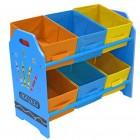 Organizator jucarii cu cadru din lemn Blue Crayon - Style