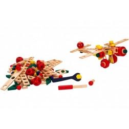 Joc educativ de construit Globo Legnoland Mechanik 37440 130 piese multicolore