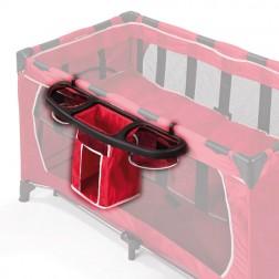 Nivel suplimentar pat + cutie pentru obiectele bebelusului - Basic Red Esprit - resigilat