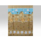 Lenjerie MyKids Happy Giraffe Maro 5 Piese 120x60 cm