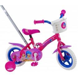 Bicicleta fete Shimmer and Shine 10 inch cu roti ajutatoare si maner parental - Volare