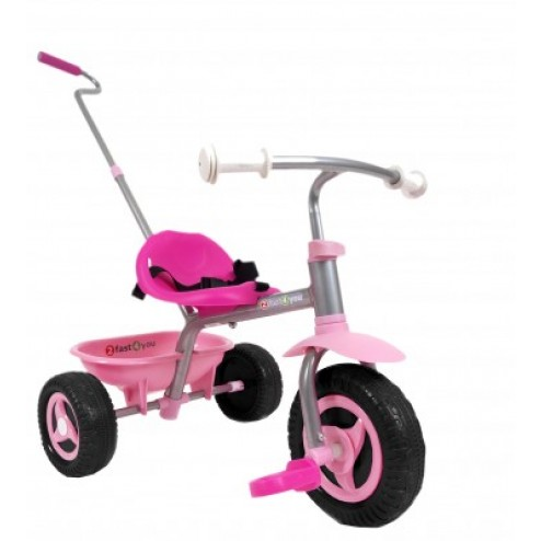 Tricicleta copii Palau metalica cu ghidaj parental