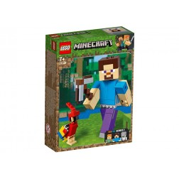 Minecraft Steve BigFig cu papagal (21148)