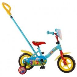 Bicicleta 10 inch, cu roti ajutatoare si maner, Teletubbies