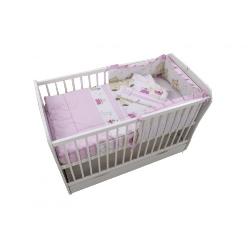 Lenjerie Teddy Play Pink M1 4 Piese 120x60 - MyKids