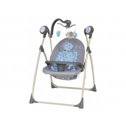 Leagan Electric Copii Cu Muzica Baby Mix SW102RC Gri