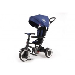 Tricicleta Rito Deluxe Albastru cu maner, parasolar si centuri