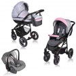 Carucior Crooner 3 in 1 - Vessanti - Pink/Gray