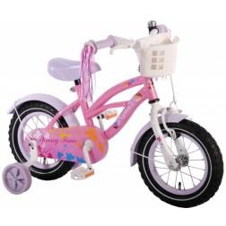 Bicicleta pentru fete 12 inch, cu roti ajutatoare si cosulet,  Volare Yipeeh