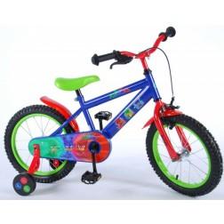 Bicicleta pentru baieti 16 inch, cu roti ajutatoare, Pj Masks
