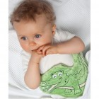 Pachet ingrijire Salteluta de joaca pt bebelusi CuddleCO 842117 si Pernuta colici Crocodil