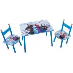 Masuta cu 2 scaunele Elsa si Anna Frozen