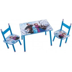 Set masuta si 2 scaunele Elsa si Anna