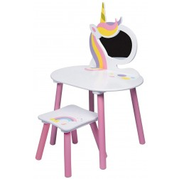 Masuta de frumusete cu scaunel Unicorn - Global