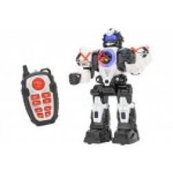 Robot de jucarie cu telecomanda Globo Wtoy 39089 pentru copii cu gloante sunete si lumini